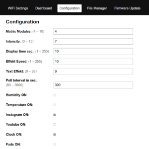 Firmware ONLY – INSTAGRAM & YOUTUBE COUNTER